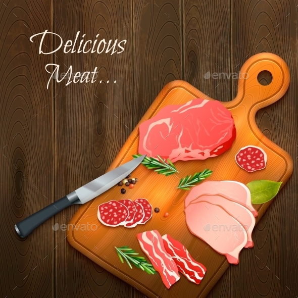 Delicious Meat Background  - Food Objects