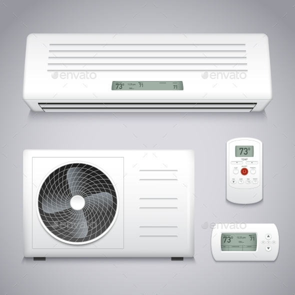 Air Conditioner Set - Man-made Objects Objects