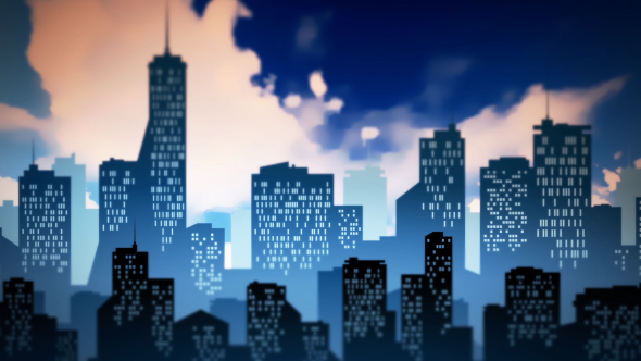 Cartoon city background by handrox g videohive play preview video voltagebd
