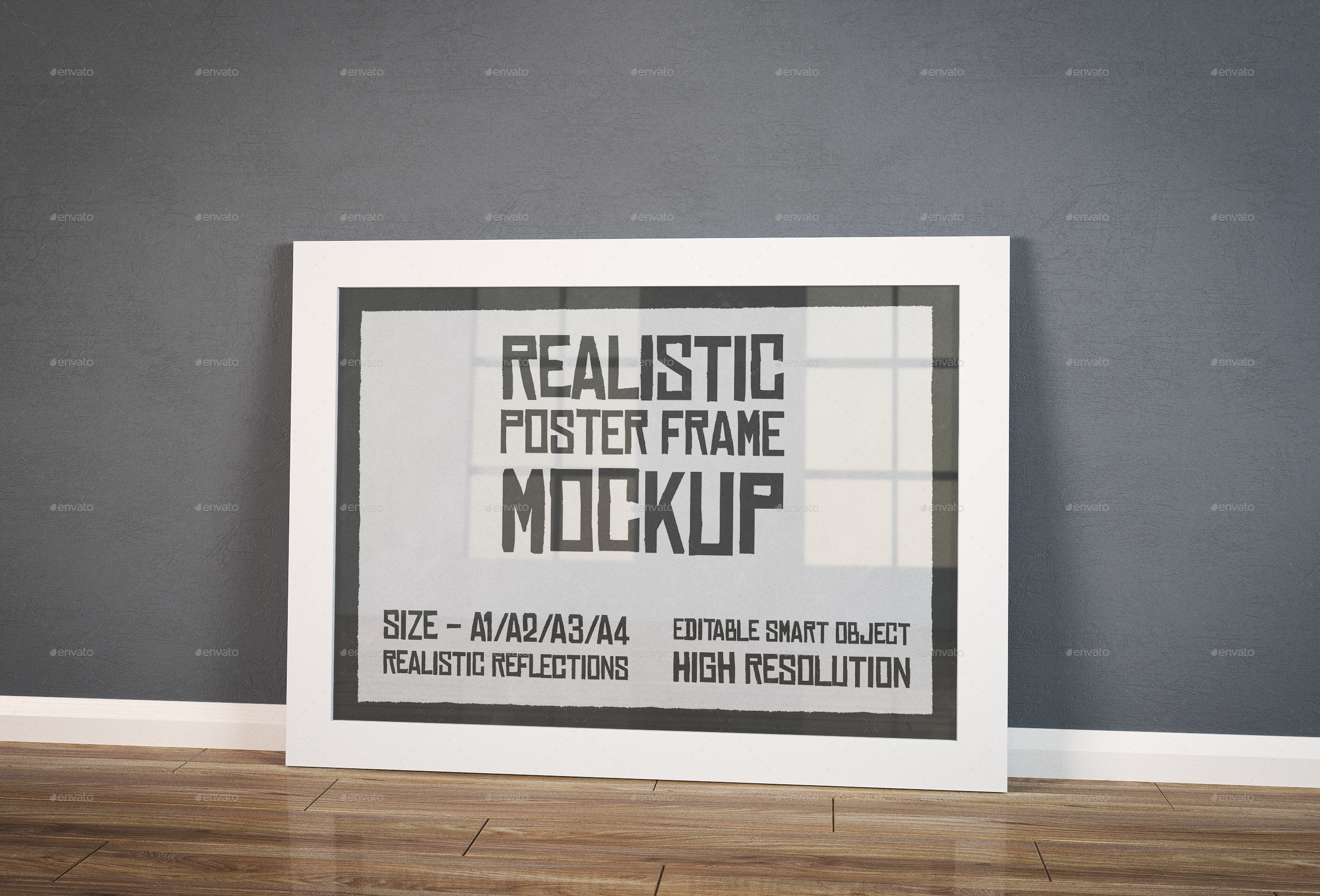 Realistic Poster Frame Mockup by Stuffx | GraphicRiver