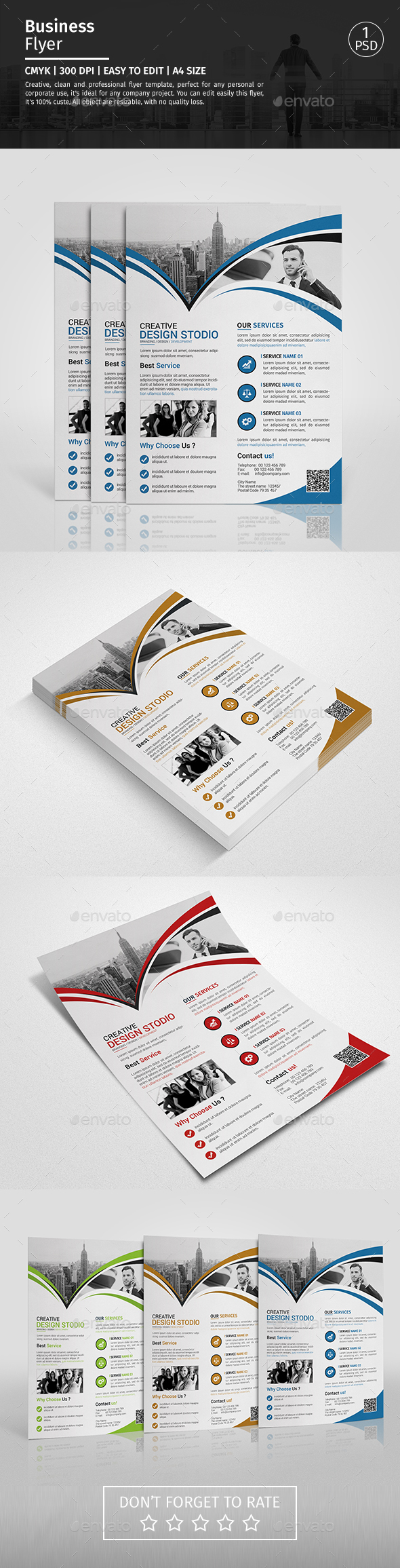 A4 Corporate Business Flyer Template Vol 10 - Corporate Flyers