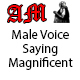 Male Voice Saying Magnificent