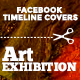 Facebook Timeline Covers - Art exhibition - GraphicRiver Item for Sale