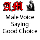 Male Voice Saying Good Choice