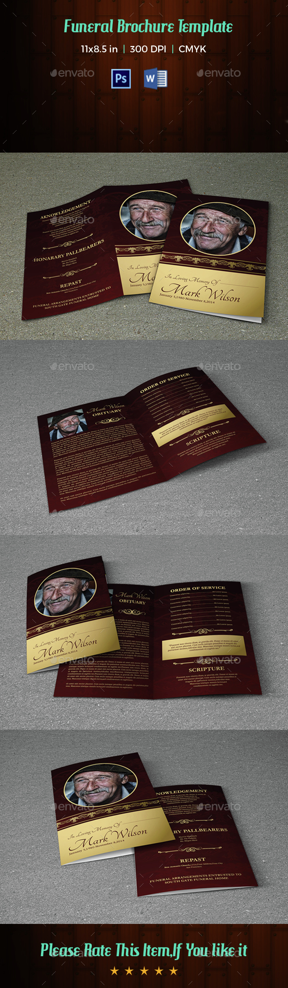Funeral Program Template-V30 - Informational Brochures