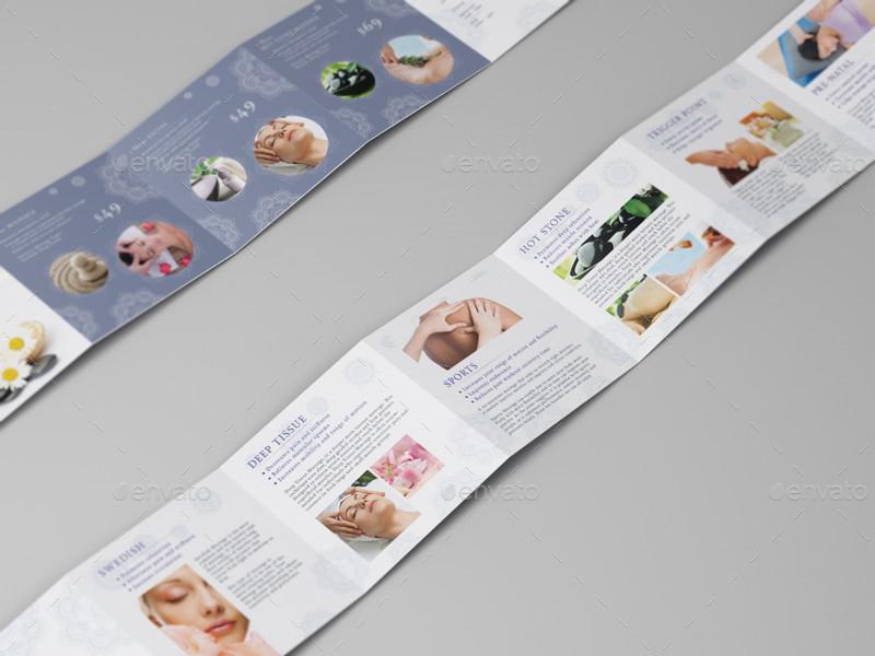 Massage Square Mini Brochure Template By Wutip GraphicRiver - Fancy brochure templates