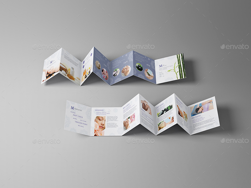 mini brochure template massage square mini brochure template by wutip2