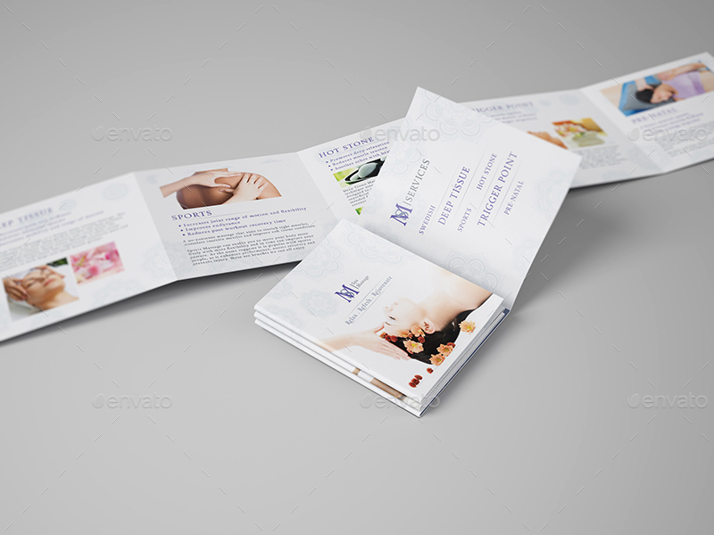 Massage square mini brochure template by wutip2 for Massage brochure template