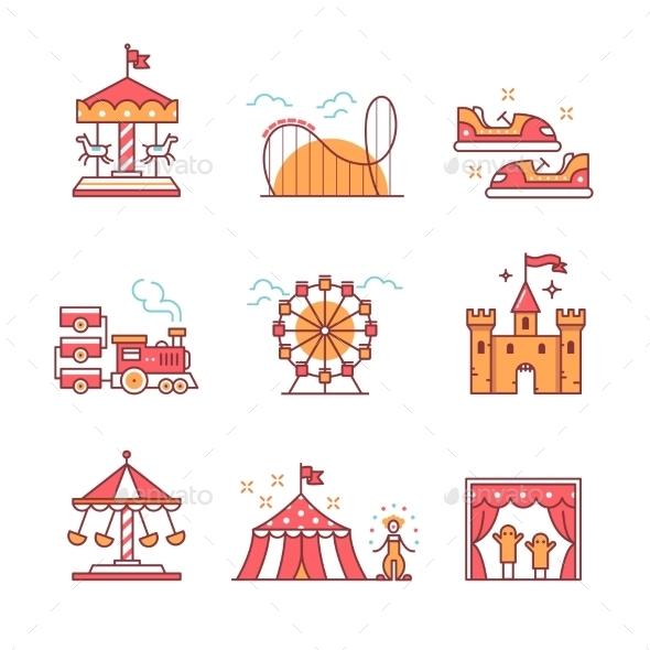 Theme Amusement Park Set - Industries Business