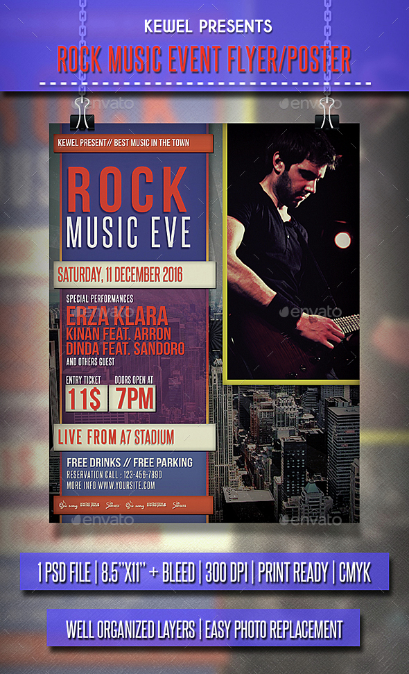 Music_Rock_Event Flyer / Poster - Events Flyers