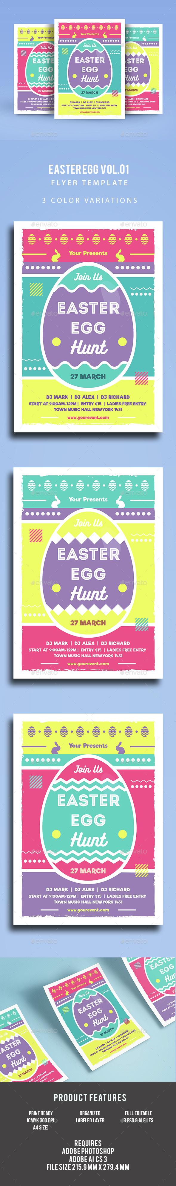 Easter Egg Flyer Vol.02 - Events Flyers