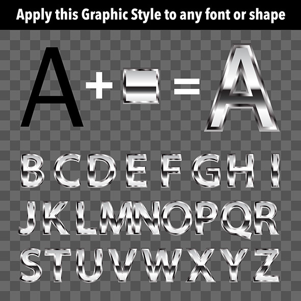 Metal Graphic Style 1 - Styles Illustrator