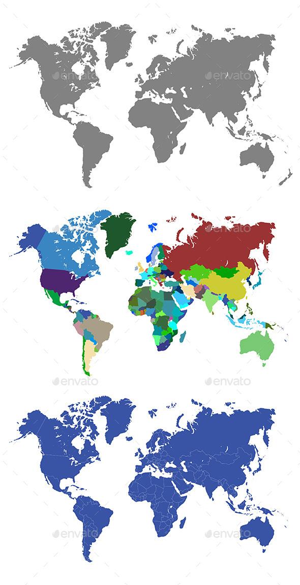 World Maps - Web Elements Vectors