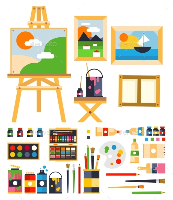 Painting Set - Decorative Symbols Decorative