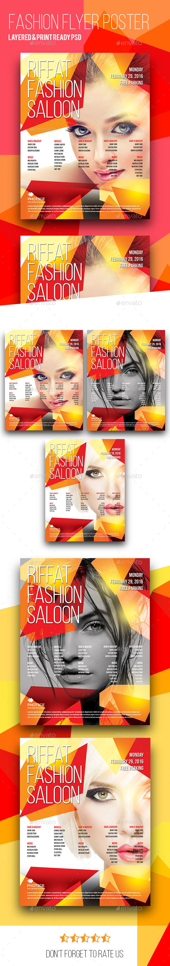 Fashion Flyer Poster - Clubs & Parties Events
