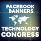 Facebook Banners - Technology Congress - GraphicRiver Item for Sale