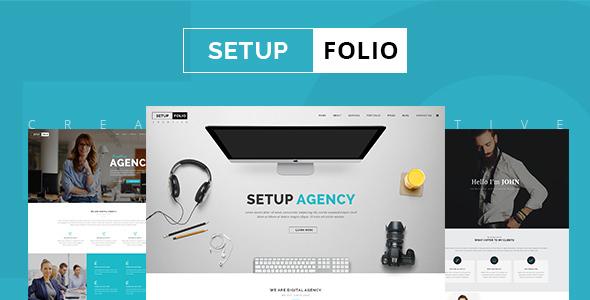 Setup Folio – Agency & Portfolio PSD Template