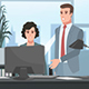 Cartoon Corporate / People Working In The Office - VideoHive Item for Sale