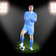 football player in blue uniform. on grass field - PhotoDune Item for Sale