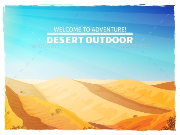 Desert Landscape Background Poster - Backgrounds Decorative