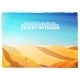 Desert Landscape Background Poster