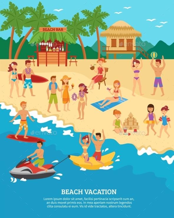 Beach Scene Flat - Seasons/Holidays Conceptual