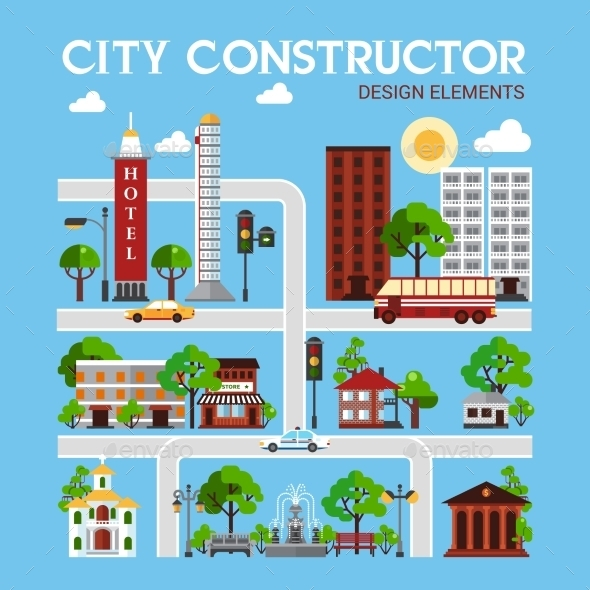 City Constructor Design Elements - Industries Business