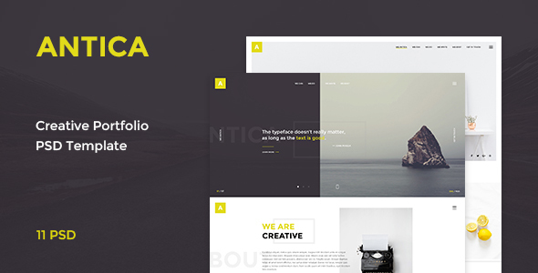 Antica — Multipurpose Business Agency/Personal Portfolio PSD Template