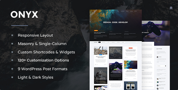 Onyx – Responsive WordPress Blog Theme