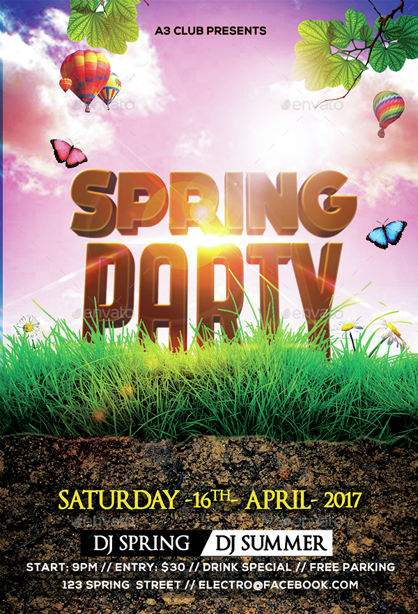 spring party flyer by arrow3000