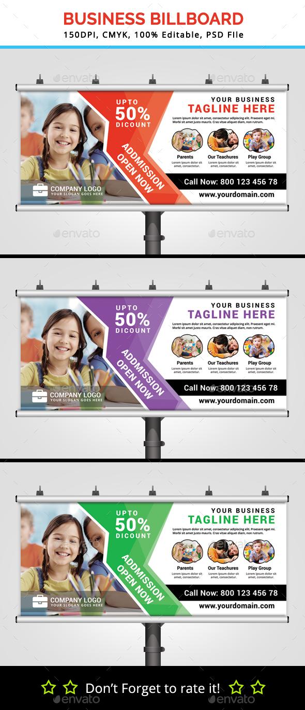 Business Billboard V6 - Signage Print Templates