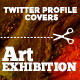 Twitter Profile Covers - Art exhibition - GraphicRiver Item for Sale