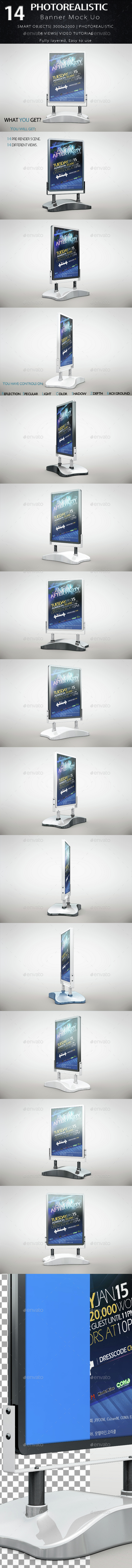 Banner Mock Up - Product Mock-Ups Graphics