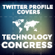 Twitter Profile Covers - Technology Congress - GraphicRiver Item for Sale
