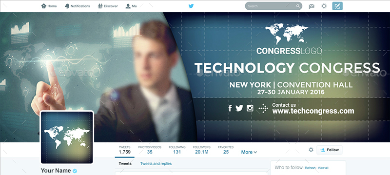 Twitter Profile Covers - Technology Congress