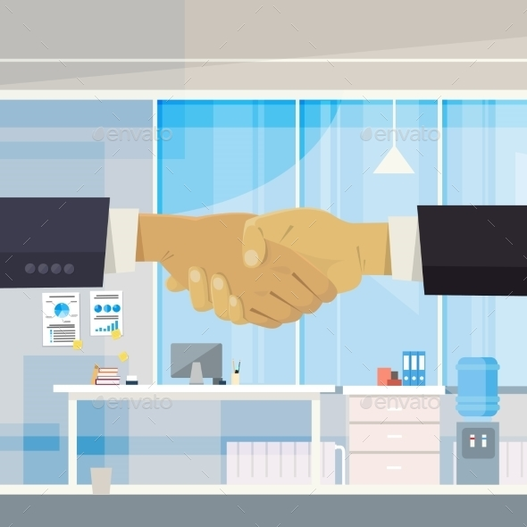 Two Businessmen Shake Hands - Concepts Business