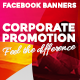 Facebook Banners - Corporate promotions - GraphicRiver Item for Sale