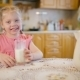 Portrait Of Smiling Girl Drinking Milk.  - VideoHive Item for Sale