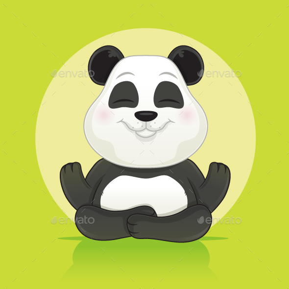 Panda Meditation - Animals Characters
