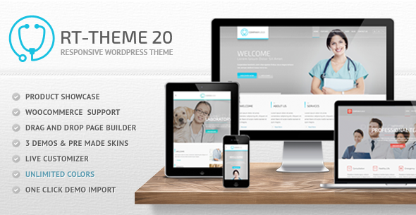 RT-Theme 20 | Medical, Health, Laboratory and Product Catalog WordPress Theme
