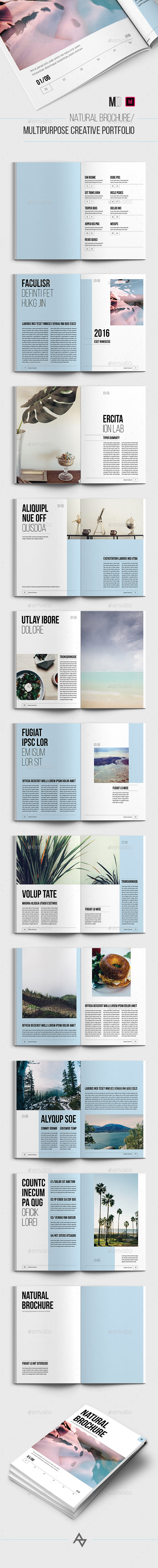 Natural brochure / Multipurpose Creative Portfolio - Portfolio Brochures
