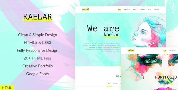 Kaelar – Minimal Portfolio / Agency HTML5 Template