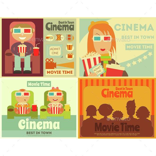 Cinema Posters Set - People Characters