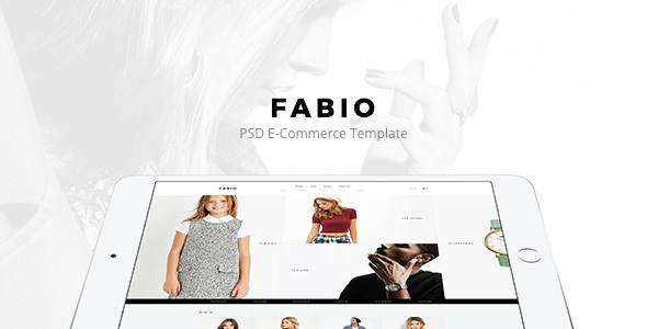 Fabio – Fashion E-commerce PSD