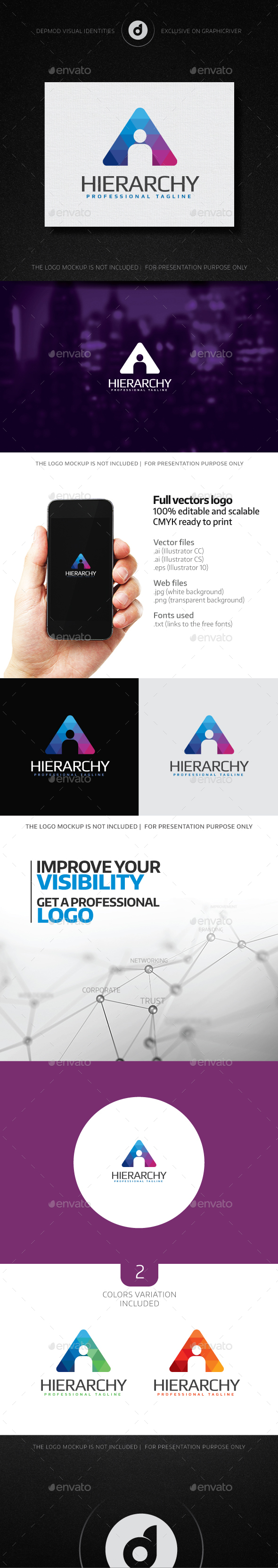 Hierarchy Logo - Humans Logo Templates