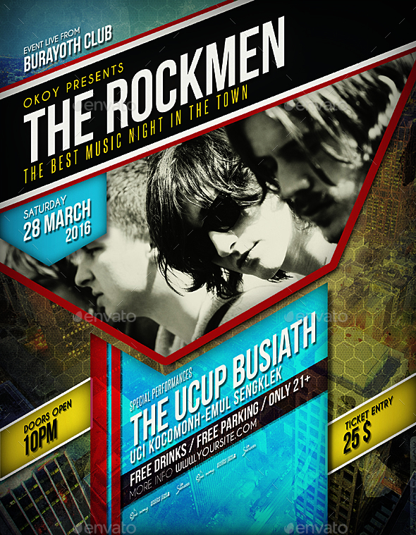 Rock Music Event Flyer / Poster
