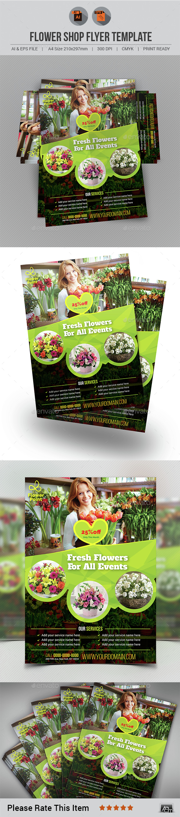 Flower Shop Flyer - Corporate Flyers