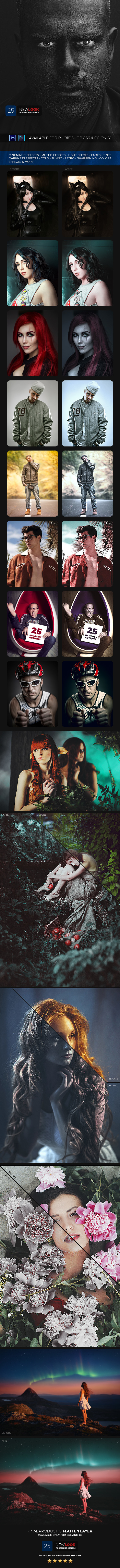 25 New Look Photoshop Action - Photo Effects Actions
