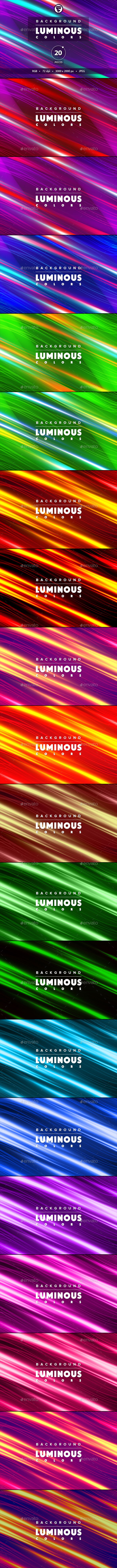 Background luminous colors 20 pieces - Abstract Backgrounds