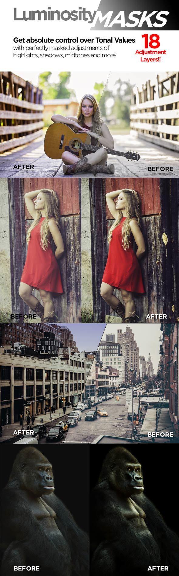 Luminosity Masks - Actions Photoshop